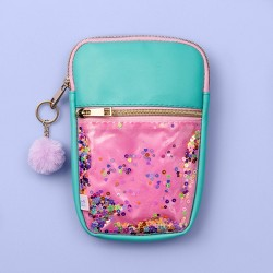 More Than Magic™ Star Glitter Pouch - Pink/Teal
