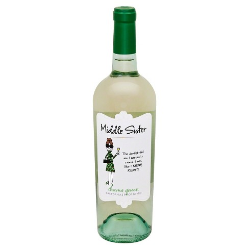 Middle Sister Pinot Grigio White Wine - 750ml Bottle - image 1 of 1