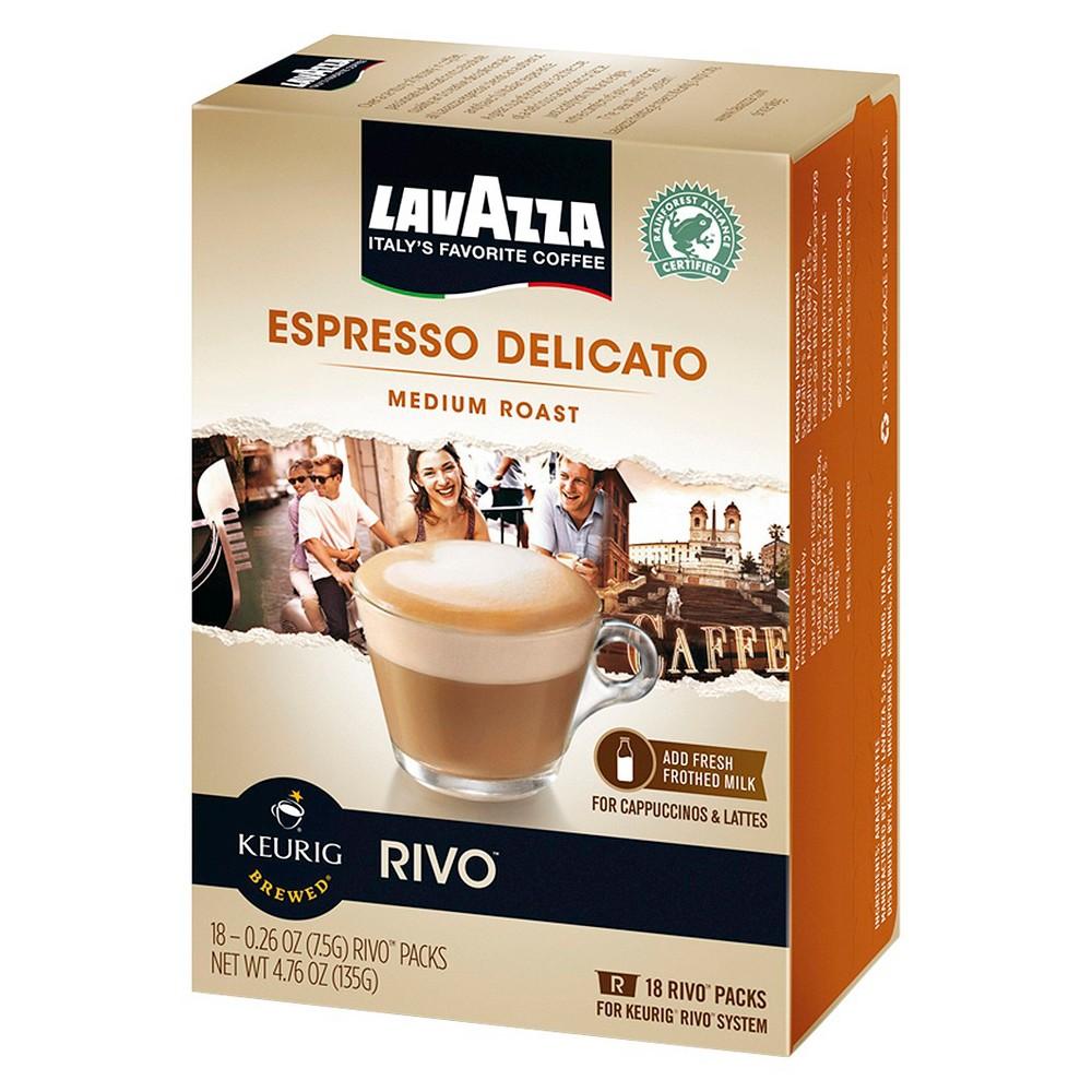 Lavazza Rivo Espresso Delicato Medium Roast Coffee - Keurig Rivo Pods - 18ct
