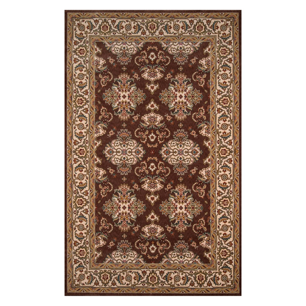 8'X10' Damask Loomed Area Rug Cocoa (Brown) - Momeni