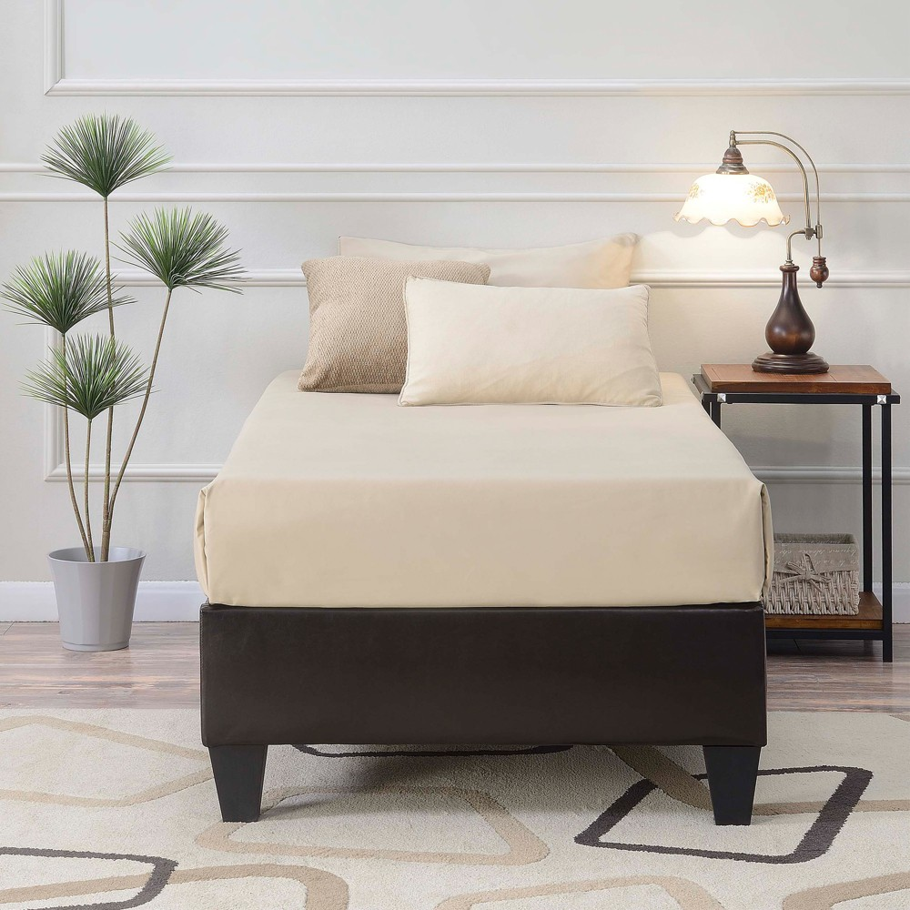 Abby Twin Platform Bed Brown - Picket House Furnishings