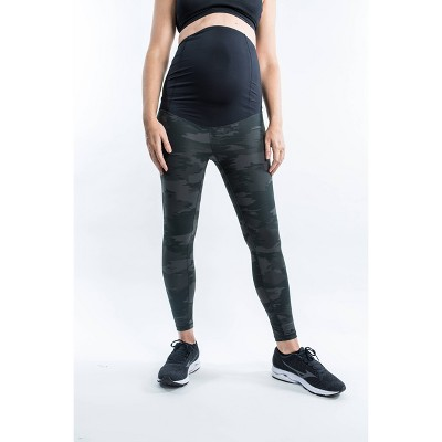 Maternity Camo Print Crossover Panel Active Leggings - Isabel Maternity by Ingrid & Isabel™ Olive XXL