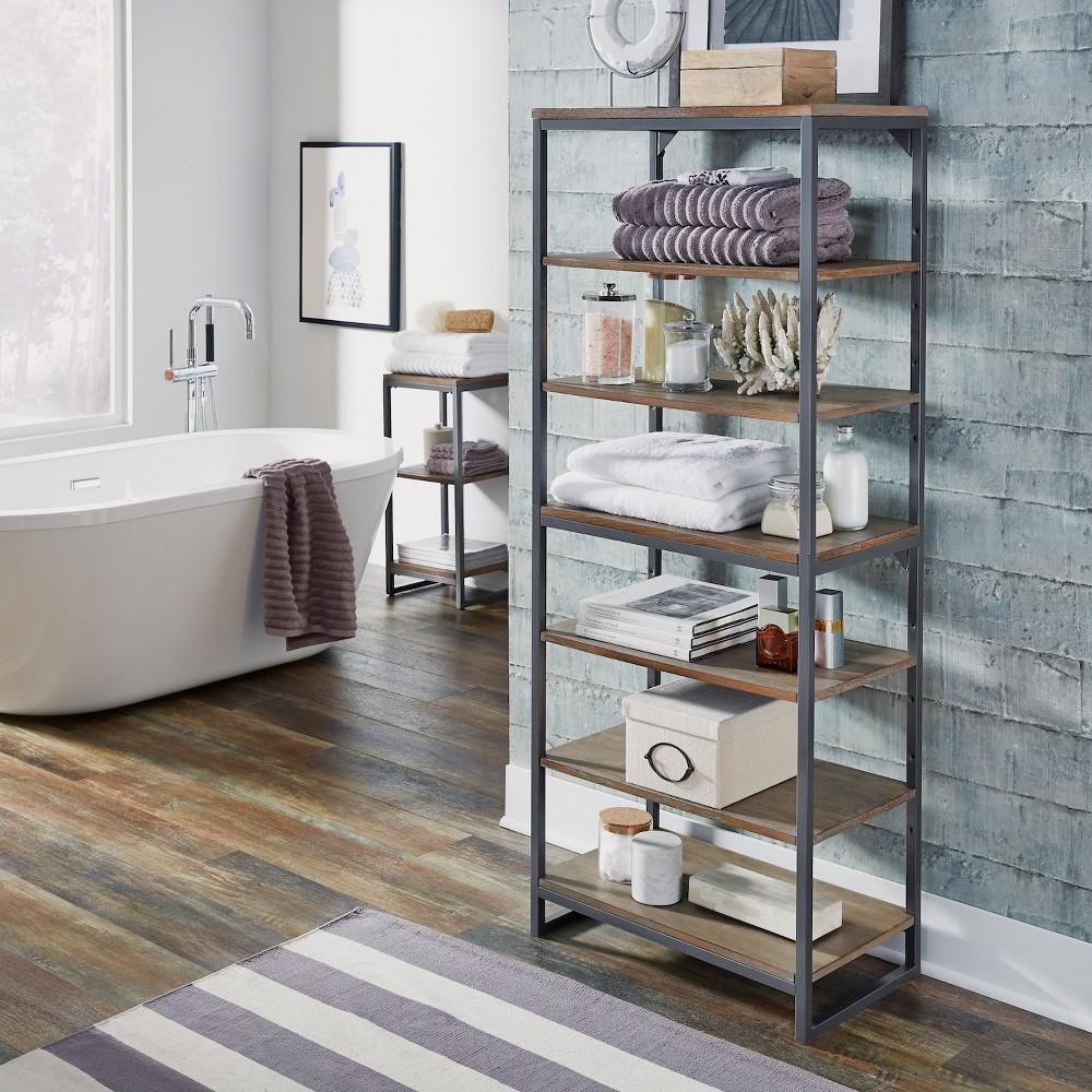 Barnside Metro 7 Tier Shelf Driftwood Gray - Home Styles