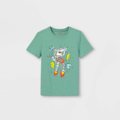 Boys' Short Sleeve Rocket Shark Graphic T-Shirt - Cat & Jack™ Green