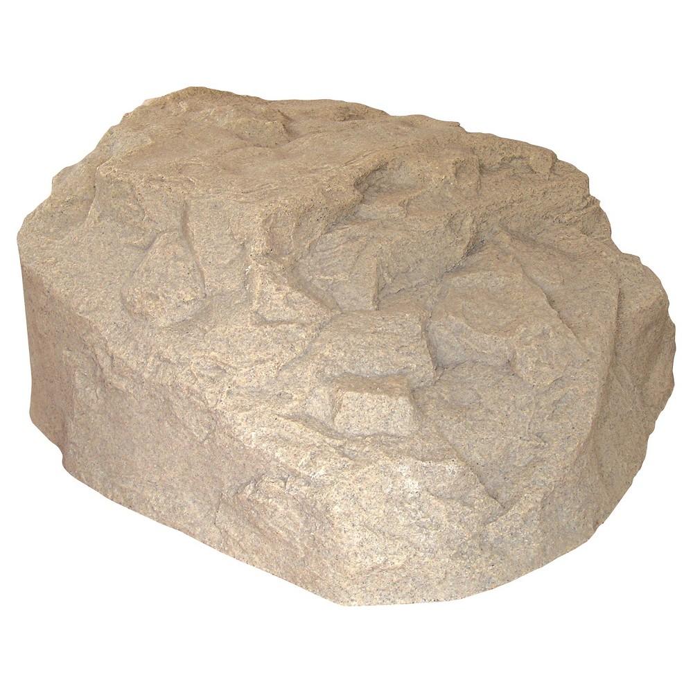 Emsco 32.5 Resin Boulder River Rock Statuary - Sand (Brown)