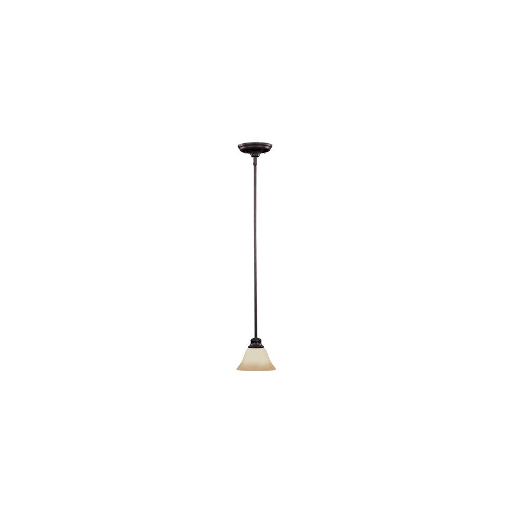 Image of Pacific 1-Bulb Pendant with Wilshire Glass - Kentucky Bronze, Brown Shimmer
