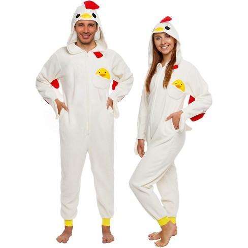 Funziez! Chicken Slim Fit Adult Unisex Novelty Union Suit - image 1 of 4