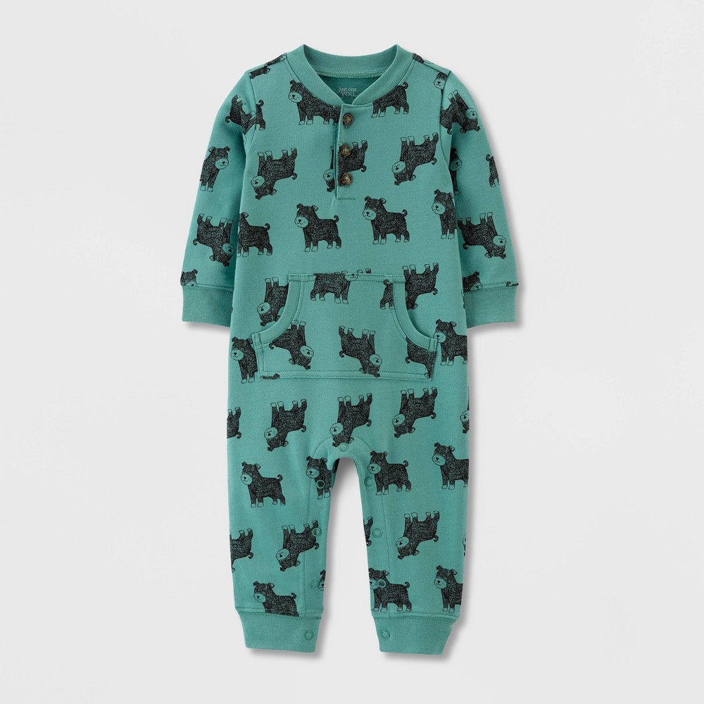 Image of Baby Boys' 1pc Puppy Jumpsuit - Just One You made by carter's Green 12M, Boy's
