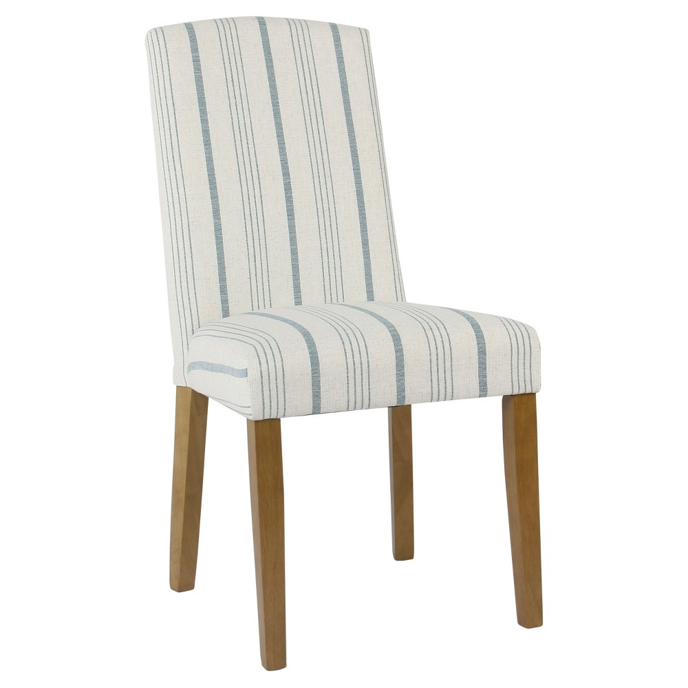 Set of 2 Classic Parsons Dining Chair Blue Calypso Stripe - Homepop was $214.99 now $161.24 (25.0% off)