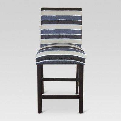 Parsons 25  Counter Stool - Watercolor Cabana Navy - Threshold™