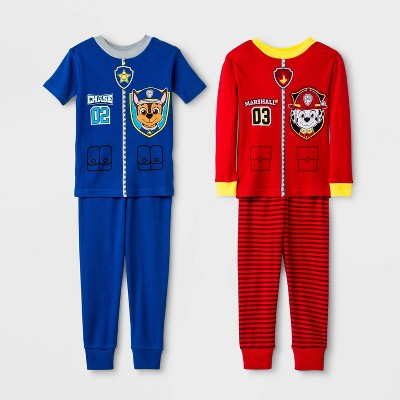 Toddler Boys' 4pc PAW Patrol Snug Fit Pajama Set - Red