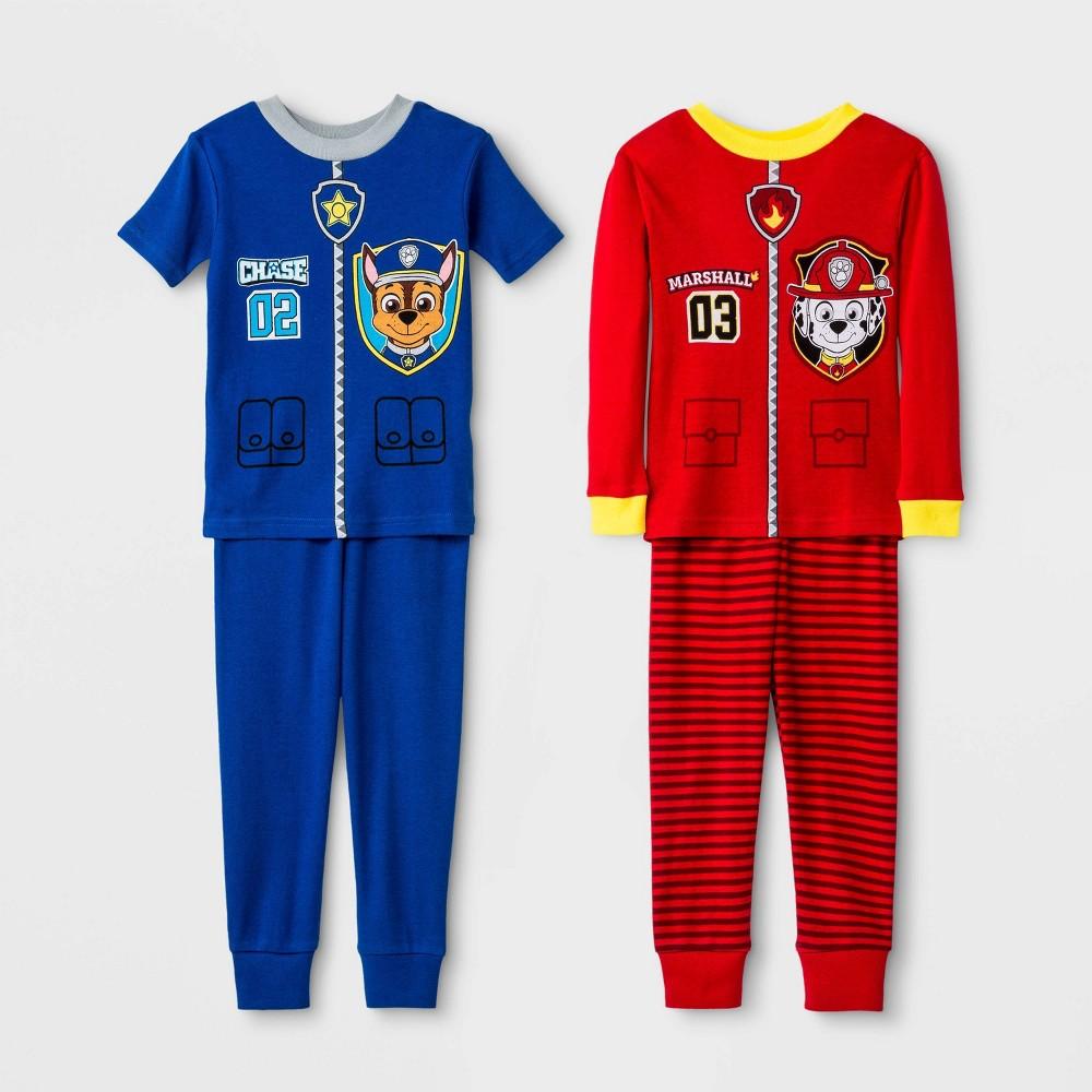 Toddler Boys 4pc PAW Patrol Pajama Set - Red 3T Promos