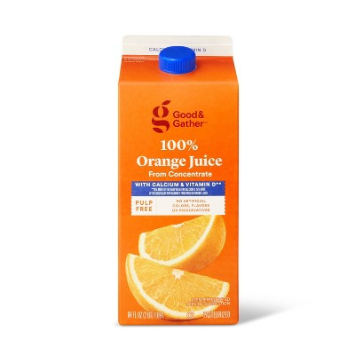 Pulp Free 100% Orange Juice From Concentrate w/ Calcium & Vitamin D - 64 fl oz - Good & Gather™