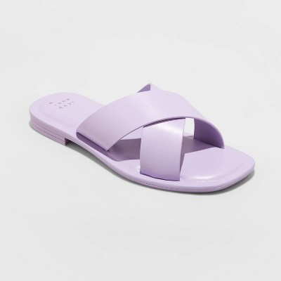Women's Lennon Crossband Slide Sandals - A New Day™