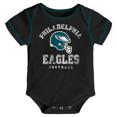 Philadelphia Eagles Baby Boys' Awesome Football Fan 3pk Bodysuit Set - 3-6 M