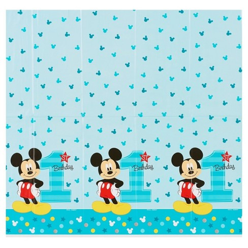 Mickey Mouse 1st Birthday Plastic Table Cover 5 X 9 Target