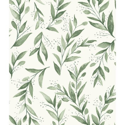 RoomMates Olive Branch Magnolia Home Wallpaper Green