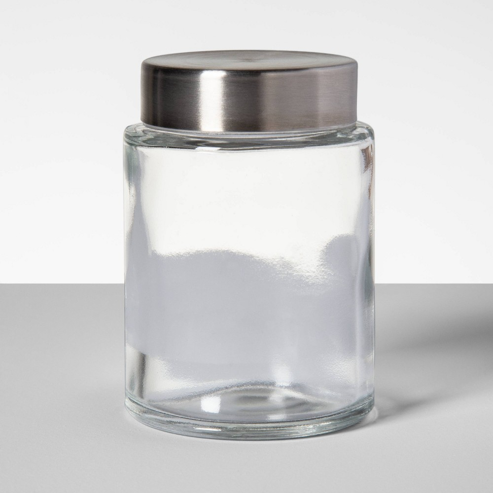 Image of 3.4oz Glass Spice Jar with Stainless Steel Lid - Threshold