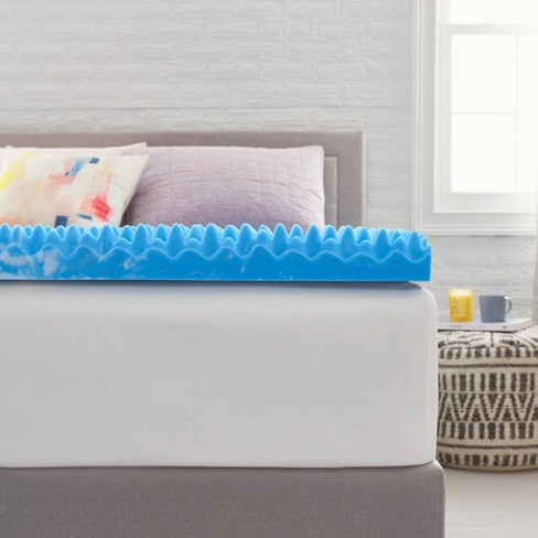 "4"" Reversible Memory Foam Mattress Topper - Comfort Revolution - image 1 of 4"