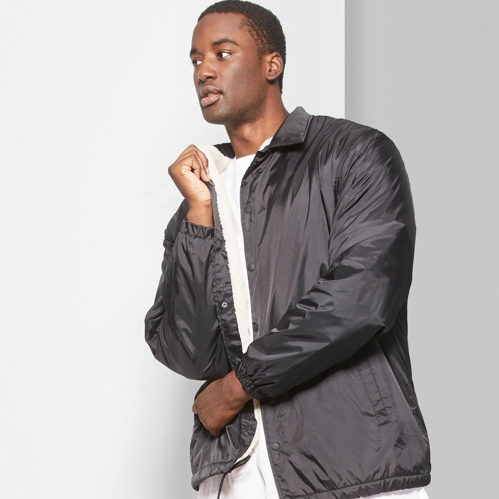 Men's Tall Long Sleeve Sherpa Lined Coach Jacket - Original Use Black LT