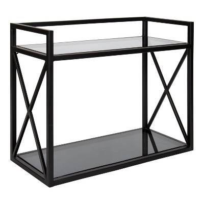 "18"" x 8"" x 15"" Blex Metal and Glass Wall Shelf - Kate & Laurel All Things Decor"