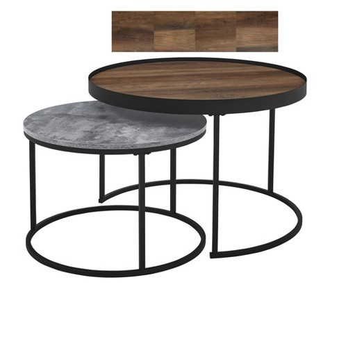 30 Rustic Nesting Coffee Tables, Nesting Coffee Tables Round