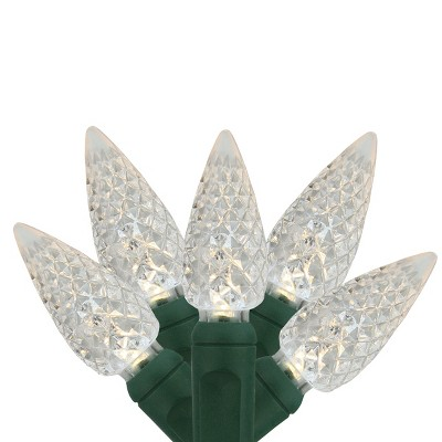 Northlight 35ct LED C6 Christmas Lights White - 16.7' Green Wire