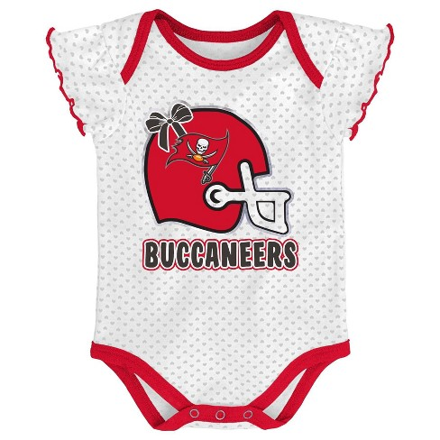 super popular 42a88 6bcde NFL Tampa Bay Buccaneers Baby Girls' Newest Fan 3pk Bodysuit Set - 6-9M
