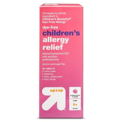 Children's Diphenhydramine Allergy Relief Liquid - Bubblegum - 4 fl oz - Up&Up™