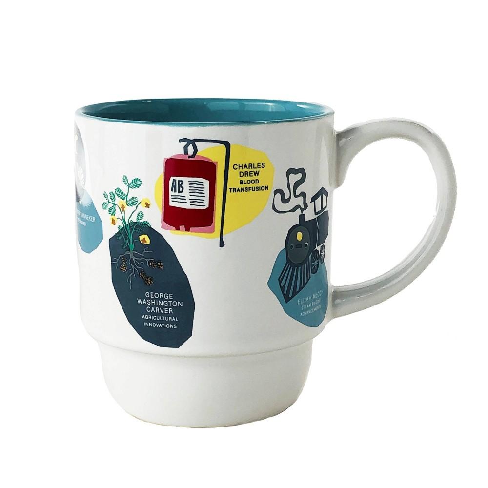 Image of DesignWorks Ceramic Mug Inventor Art, White