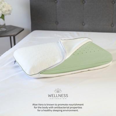 SensorPEDIC Calming Aloe Vera Infused Memory Foam Pillow