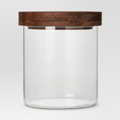 Glass Storage Canister with wood lid - Small - Threshold™