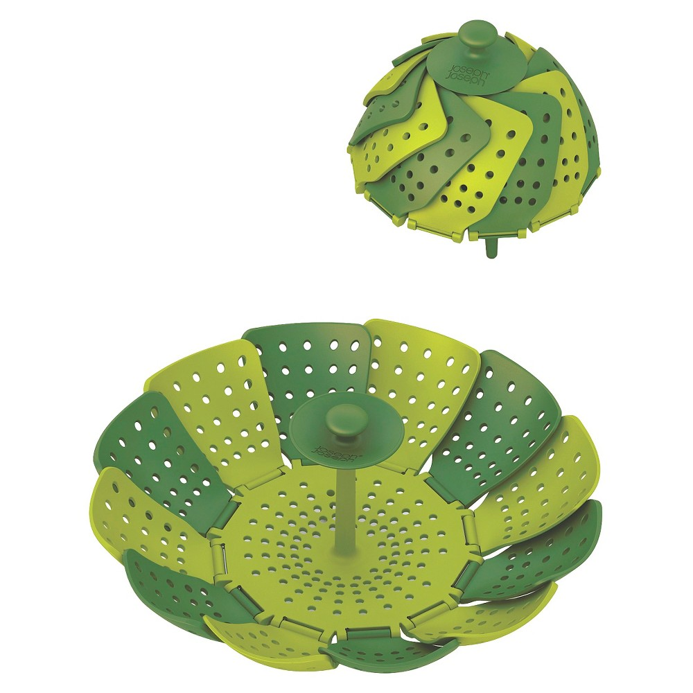 Image of Joseph Joseph Lotus Plus Non-Scratch Collapsible Steamer Basket - Green