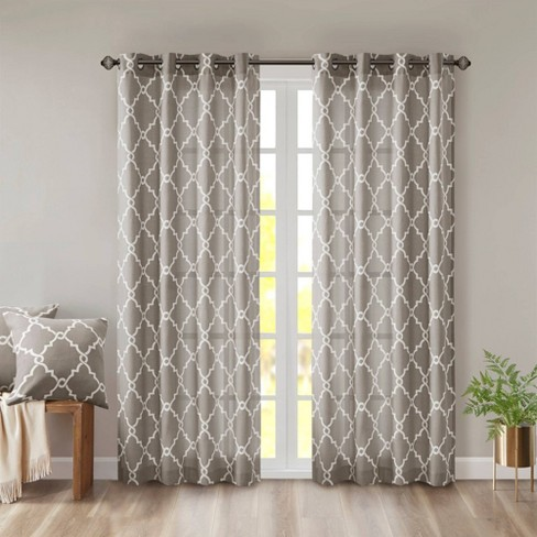 Sereno Fretwork Print Light Filtering Curtain Panel - image 1 of 4