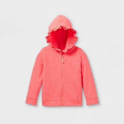 Toddler Girls' Zip-Up Hoodie Sweatshirt - Cat & Jack™