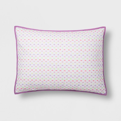 Standard Dash Pillow Sham Violet - Pillowfort™