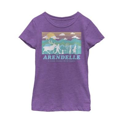 Girl's Frozen 2 Magical Traveler Silhouette T-Shirt