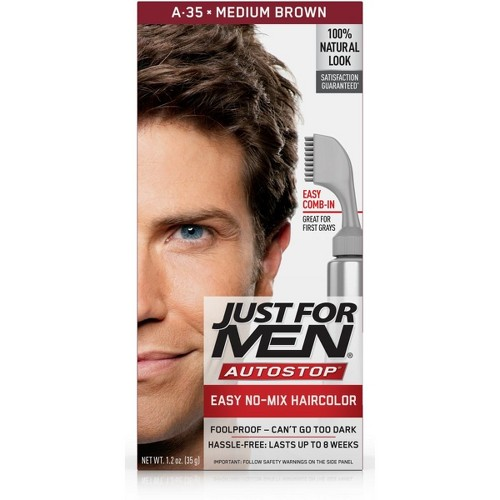 Just For Men AutoStop Men's Hair Color, Medium Brown A-35