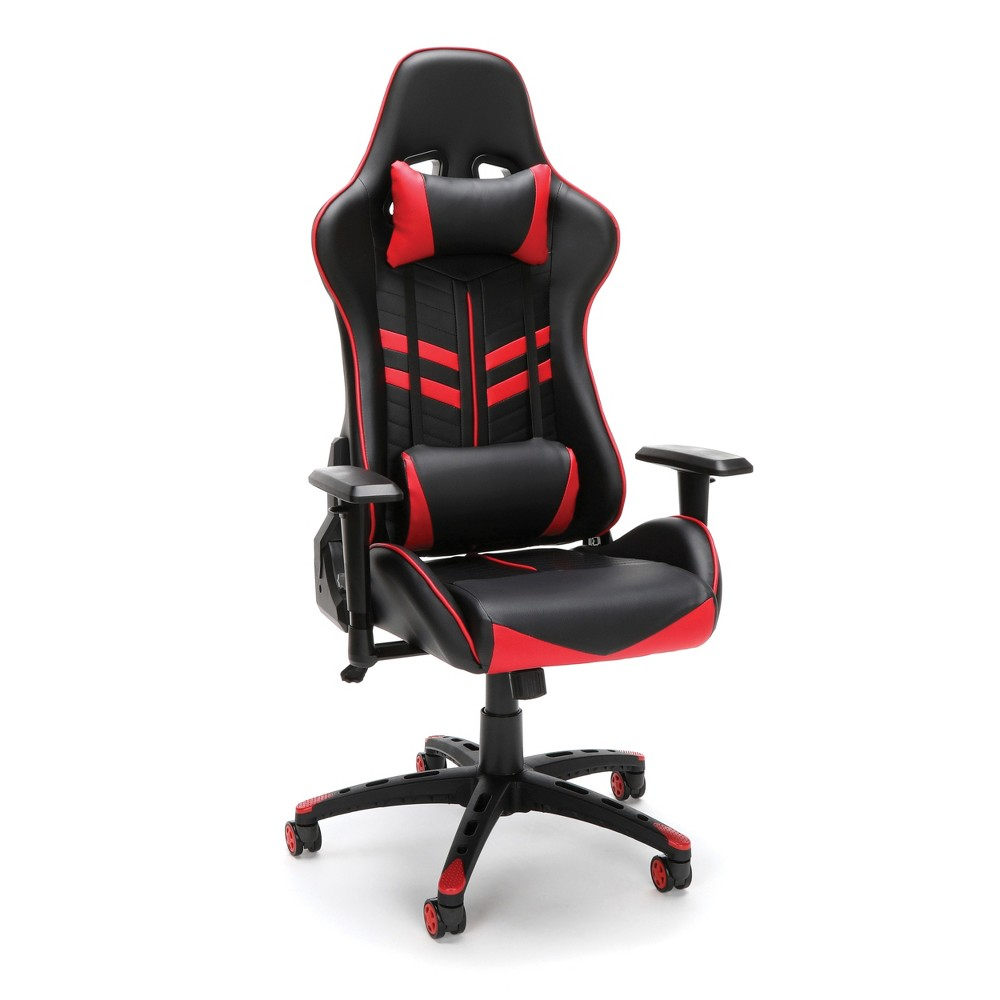Stupendous Racing Style Adjustable Gaming Chair With Lumbar Support Red Ofm Dailytribune Chair Design For Home Dailytribuneorg