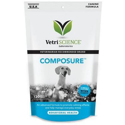 Vetriscience Laboratories Composure Behavioral Health Bite-Sized Dog Chews, 120 ct