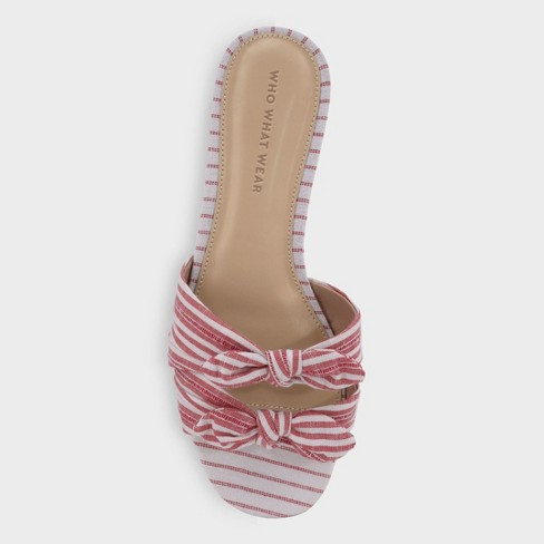 ea673c6b5 Women s Florence Striped Bow Slide Sandals - Who What Wear™. Shop all Who  What Wear