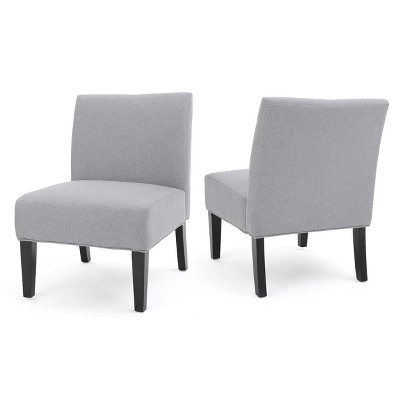Set of 2 Kassi Accent Chair Light Gray - Christopher Knight Home