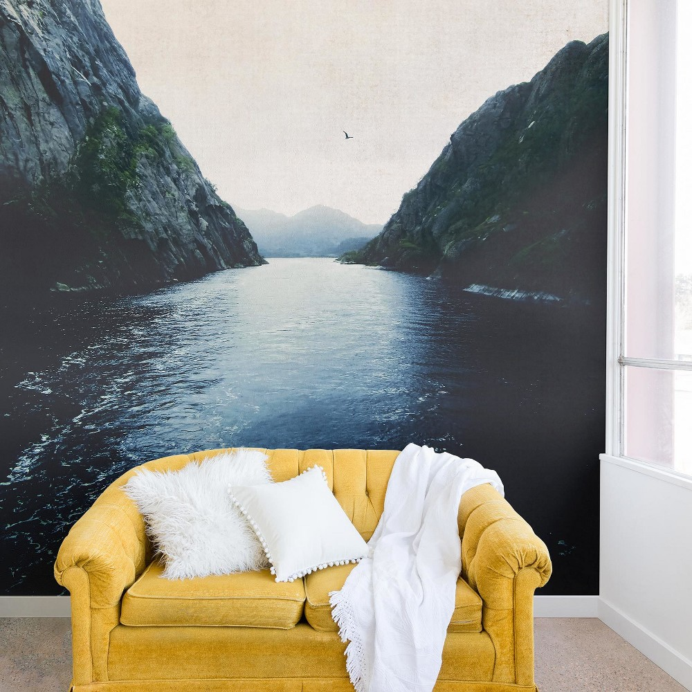 "Image of ""12""""x8"""" Ingrid Beddoes Finding Inner Peace Wall Mural Black - Deny Designs"""
