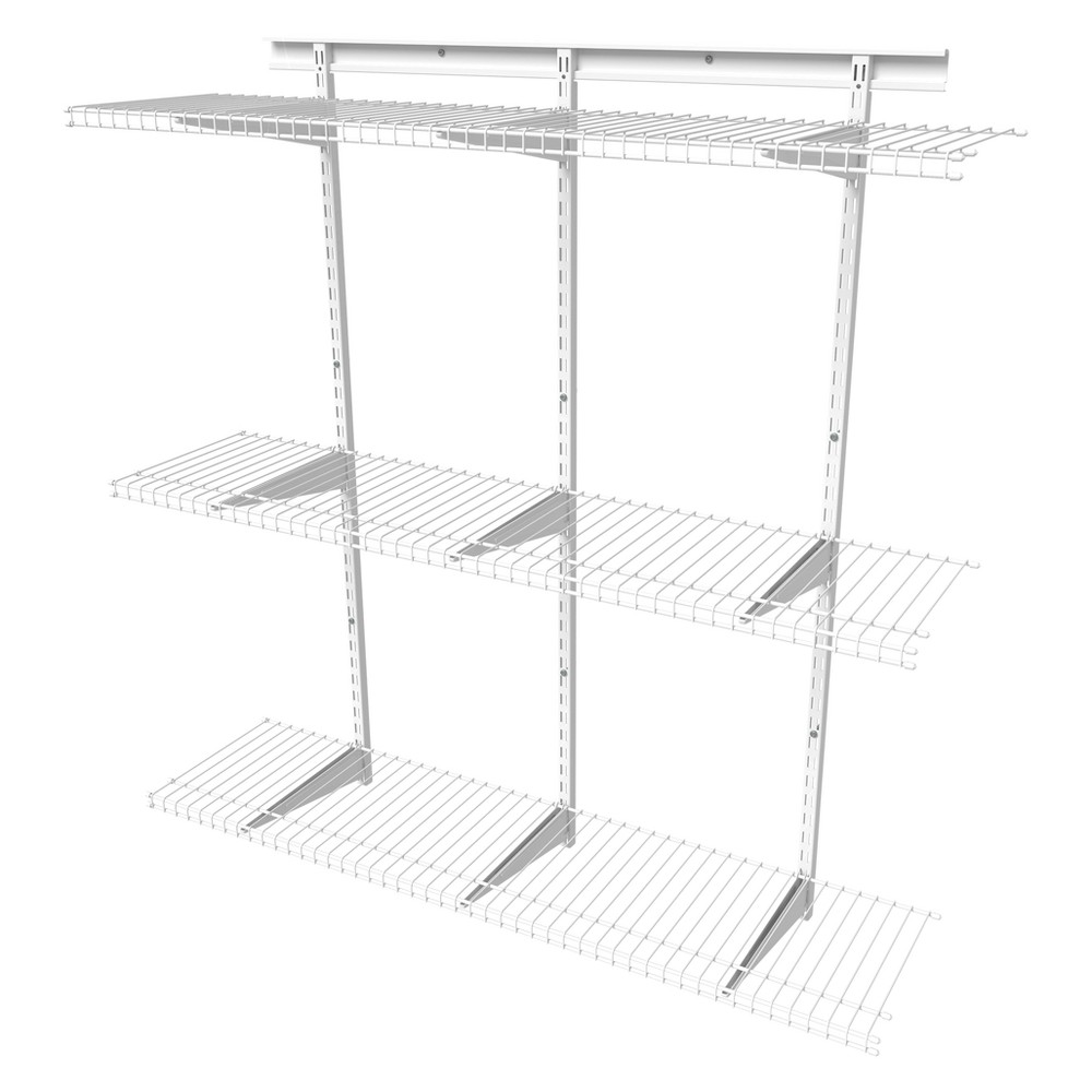 ShelfTrack 4' Adjustable Shelf Kit - ClosetMaid, White