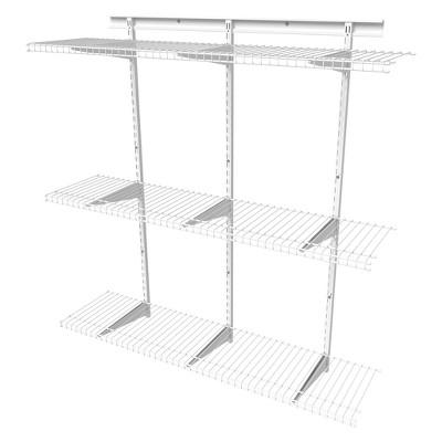 ShelfTrack 4u0027 Adjustable Shelf Kit   ClosetMaid