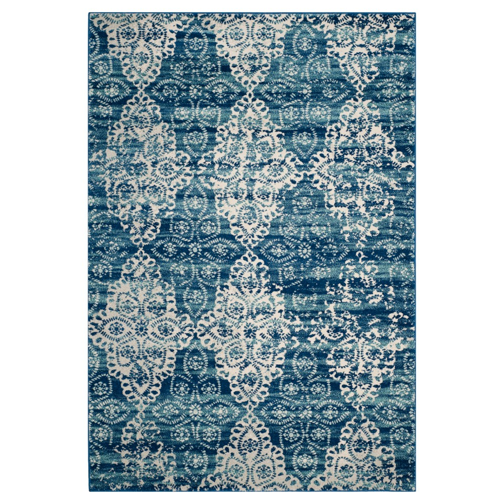 Evoke Rug - Royal/Ivory - (4'x6') - Safavieh, Blue