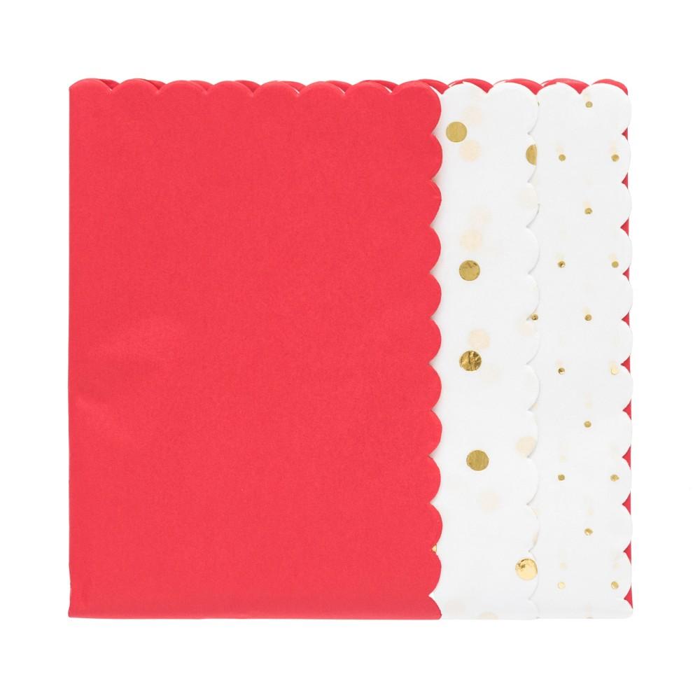 Red Scallop Gift Tissue, 25ct - sugar paper