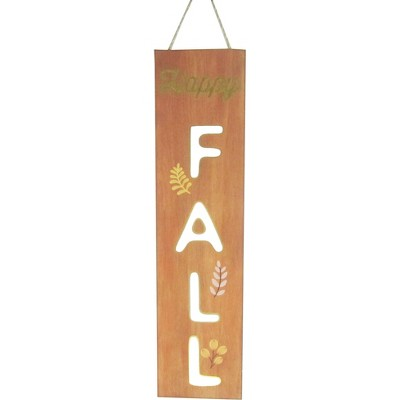 Harvest Happy Fall Hanging Sign Orange