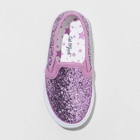 246e75ff13a11 Toddler Girls  Madigan Glitter Slip On Sneakers - Cat   Jack™ Purple 5    Target