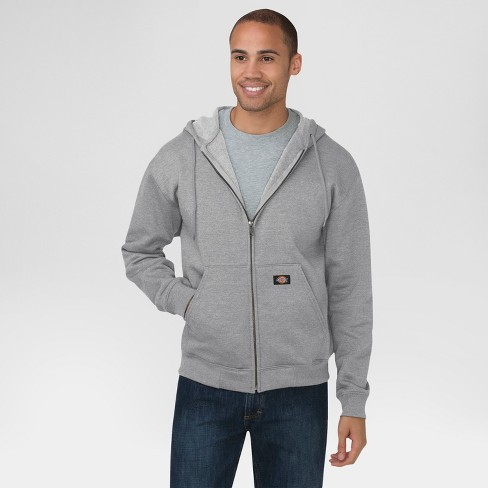 Dickies Mens Big-Tall Midweight Fleece Full Zip Hooded Sweatshirt